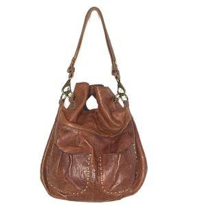 Lucky Brand Handbag Brown Italian Leather